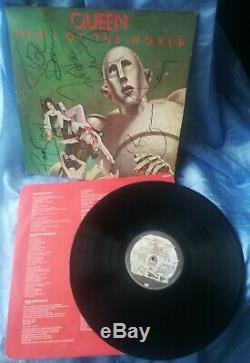 Freddie Mercury Reine Signe Nouvelles Du Monde Autographié Certificat