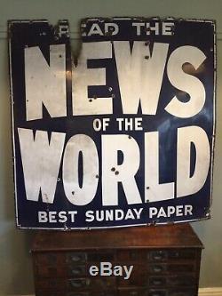 Grande Nouvelles Du Signe De L'émail Publicitaire Du Monde 1940