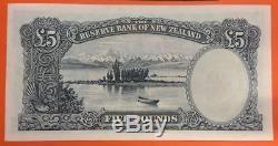 La Banque De Réserve De La Nouvelle-zélande 5 Livres 1960 1967 Pick 160d Unc Note James Cook