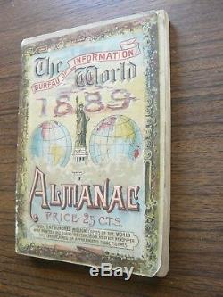 Le Bureau D'information World Almanac 1889 New York Rare