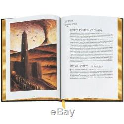 Le Illustrated World Of Tolkien New Easton Press Leather Bound Édition