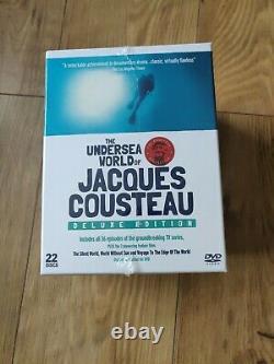 Le Monde De Jacques Cousteau Undersea Deluxe Edition 22 Disques DVD Box Set Nouveau