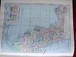 Le Nouvel Atlas De Référence Du Monde Hammond 1927 Hc Bright Color Maps