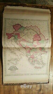 Le Nouvel Atlas Illustré De La Famille Johnson Du Monde 1868 / Cartes Coloriées À La Main