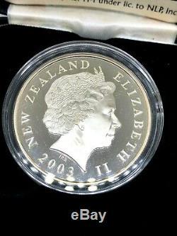 Le Seigneur Des Anneaux Nouvelle-zélande Pièce De 1 $ En Argent Épreuve Numismatique En Or Pièce 100% Original
