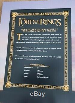 Lord Of The Rings - Collection De Pièces De Monnaie Nouvelle-zélande Silver Proof 24 Dans Un Coffret En Bois