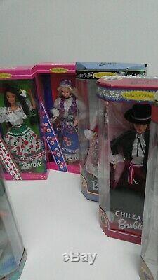 Lot 17 Poupées Barbie Du Monde, Valentine, Patineur Olympique Ken, Nouveau Dans Une Boîte