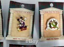 Lot De 10 2002 Disney Je Conquit Le Monde Collectionneurs Pin Nouvelle Série Sur La Carte