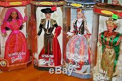 Lot De 10 Poupées Barbie Du Monde / Jamais Sorties De La Boîte