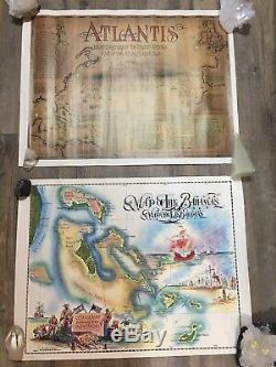 Lot De 2 Cartes Postales Angelo L Roker Bahamas, Porte Du Nouveau Monde Et De L'atlantide