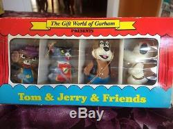 Lot De 4 Vintage Le Cadeau Du Monde De Gorham Tom & Jerry & Friends Ornements Nouveau