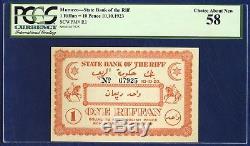 Maroc Banque D'état Du Riff 1 Riffan Pick R1 1923 Pcgs 58 Choix Nouveau