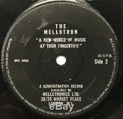 Mellotron Un Nouveau Monde De La Musique À Portée De Main Rare Demo 45 Upc 3502