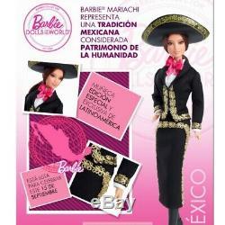 Mexique Mariachi Poupée Barbie Mattel Collector Poupées De Nouveau Monde Dans L'encadré
