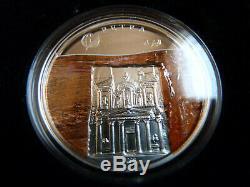 Mongolei 7 X 500 Togrog 2008 Weltwunder Silber Les Nouvelles Merveilles Du Monde
