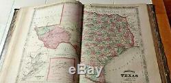 New Illustrated Famille Atlas Johnson Le Monde 1866, Livre