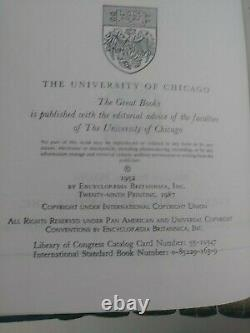 New Sealed 1952 Britannica Grands Livres De L'ensemble Complet Du Monde Occidental 1-54