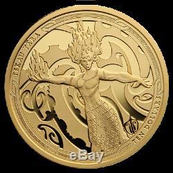New Zealand- 2019- Gold Proof Coin Set - Maui Et La Déesse Du Feu