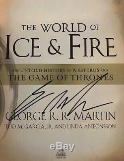 Newithmint / Rare Signed George R. R. Martin Le Monde De La Glace Et Du Feu (got)