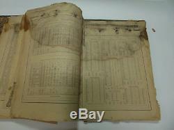Nouveau Atlas De La Famille Illustré De Johnson Du Monde Cartes Datant De L'ère De La Guerre Civile De 1865