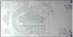Nouveau! N ° 95 Ensemble De Billets De Banque 20 Uah De L'échantillon De 2018 En Cas De Daim Ag 999,9