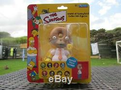 Nouveau Playmates World Of The Simpsons Springfield Donut Head Homer Wos Figure Toy