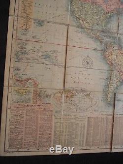 Nouveau Tableau De Bacon Du Monde Mercators Projection G. W. Bacon Londres 1907