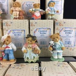 Nouveau Vtg Ensemble De 16 Figurines En Peluche Enesco Autour Du Monde 1996-1997