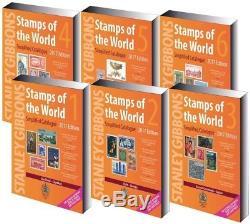 Nouveaux Timbres Du Monde 2017 Catalogue. 6 Volumes De Stanley Gibbons C
