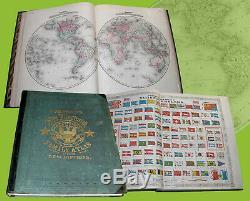 Nouvelle Famille Illustré Atlas Du Monde 1866 Johnson Fisher Richard Atlante
