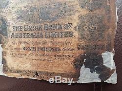 Nouvelle-zélande 1 Livre 1905 Billet De Banque Union Bank Of Australia Limited