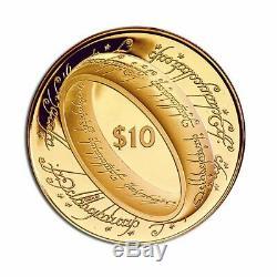 Nouvelle-zélande 2003 10 $ Proof Gold Coin Le Seigneur Des Anneaux
