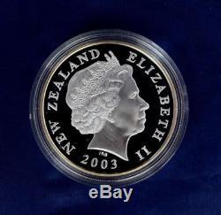Nouvelle-zélande -2003- Pièce D'argent D'une Valeur De 1 Dollar - Pièce Du Seigneur Des Anneaux! Affaire Avec Coa