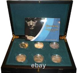 Nouvelle-zélande 2003 The Lord Of The Rings Silver Proof Coin Set! Rare