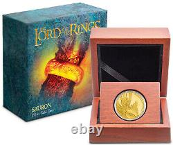 Nouvelle-zélande 2021 1/4 Oz Gold Proof Coin- Seigneur Des Anneaux Sauron