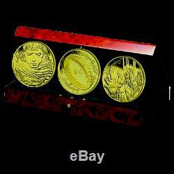 Nouvelle-zélande - Or 2003 10 $ X3 Pièces De Preuve Set De Pièces Du Seigneur Des Anneaux