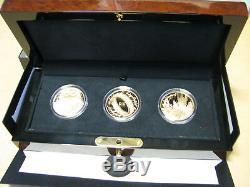 Nouvelle-zélande - Or 2003 10 $ X3 Pièces De Preuve Set De Pièces Du Seigneur Des Anneaux! Rare