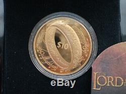 Nouvelle-zélande - Pièce En Or À 10 $ Preuve 2003 - Pièce En Or À Épreuve Le Seigneur Des Anneaux