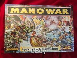 Nouvelles Batailles Navales Faisant Rage Dans Le Monde De Warhammer Atelier Sur Les Jeux Man O War 1992 De 1992