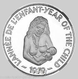 Nouvelles Hebrides 500 Francs 1979 Argent Ngc Pf67 Ucam Année De L'enfant Rare Mtg. 500