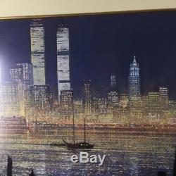Peter Ellenshaw Le Glist De New York Centre Commercial Mondial À Deux Tours