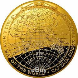 Pièce À Coupole En Forme De Dôme Preuve D'or De 100 $ 2018 Une Nouvelle Carte Du Monde 1812 Coa