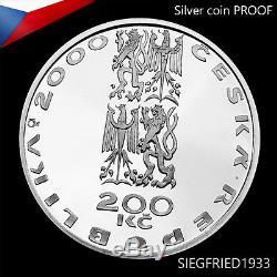 Pièce D'argent Tchèque Proof (2001) Le Début Du Nouveau Millénaire 200 Czk