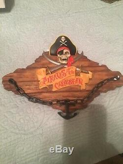 Pirates Des Caraïbes, Plaque De Fixation Murale Pour Le Discours De Disneyland Disney World Nouveau