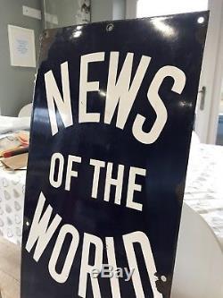 Plaque Publicitaire En Émail, Nouvelles Du Monde En Vente ICI