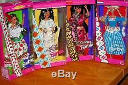 Poupées De La Collection Mondiale De 19 Poupées Barbie / New-nrfb