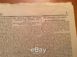 Première Édition Originale Nouvelles Du Journal Mondial. 1843