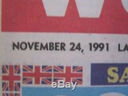 Queen Freddie Mercury Aids '' Nouvelles Britanniques Du Journal Mondial 1991