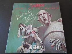 Queen, Freddie Mercury Autograph Nouvelles Du Monde Lp Silver Marker. Superbe