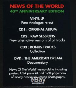 Queen News Of The World, Coffret Lp + 3cd + Dvd, Eu